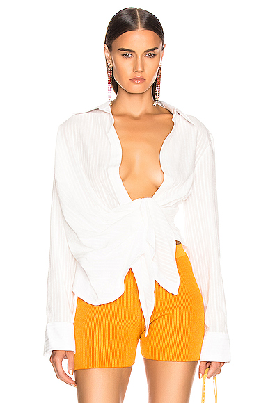 JACQUEMUS Bahia Shirt in White. - size 38 (also in 40)