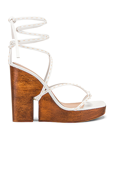 JACQUEMUS Pilotis Sandal in White. - size 41 (also in 36,40)