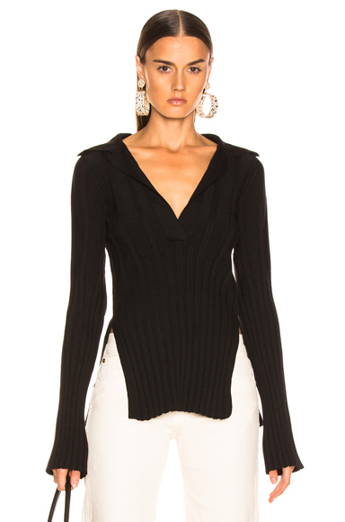 KHAITE Sienna Sweater in Black. - size XS (also in L,M,S)
