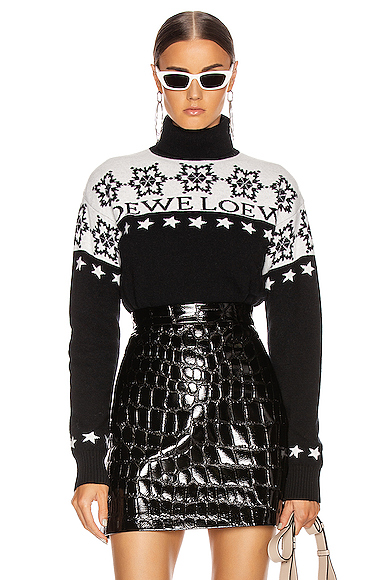 Loewe Snowflake Turtleneck Sweater in Abstract,Black,White. - size S (also in L,M,XS)
