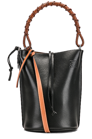 Loewe Gate Bucket Bag in Black.