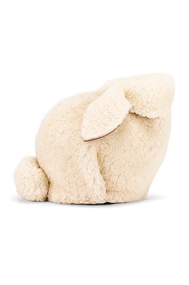 Loewe Bunny Mini Bag in White.