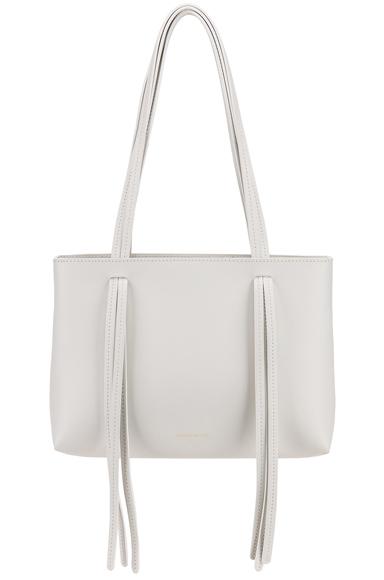 Mansur Gavriel Mini Fringe Bag in White.