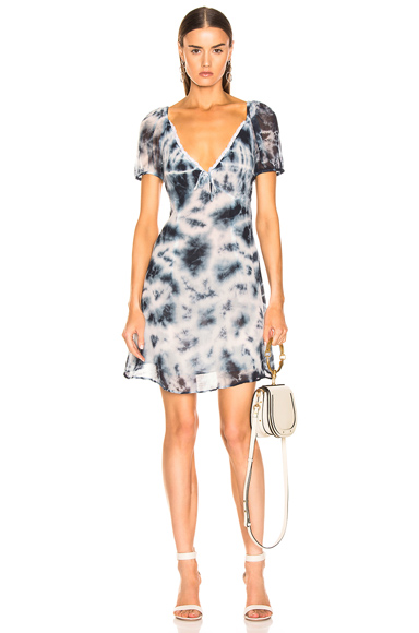 Miaou Kate Dress in Blue,Tie Dye,White. - size S (also in M,XS)