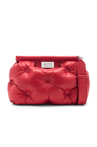 Maison Margiela Glam Slam Shoulder Bag in Red.