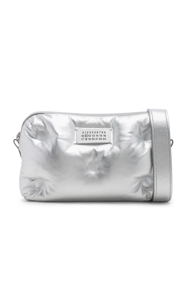 Maison Margiela Glam Slam Number Crossbody Bag in Metallic.