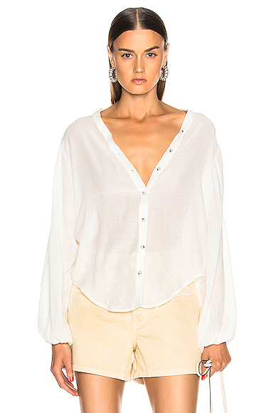 The Range Vapor Voile Shirt in White. - size L (also in S)