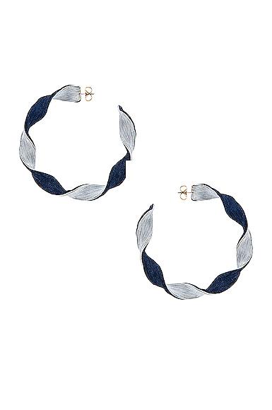 Rebecca De Ravenel Penelope Hoop Earrings in Blue.