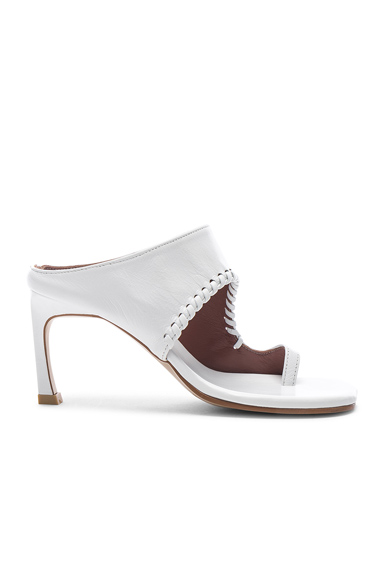 Reike Nen Asymmetry Turnover Heel in White. - size 39 (also in 36,38,40)