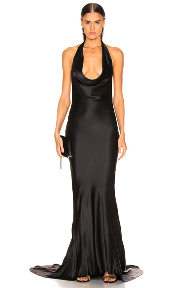 Stella McCartney Plunging Dress in Black. - size 40 (also in 34)