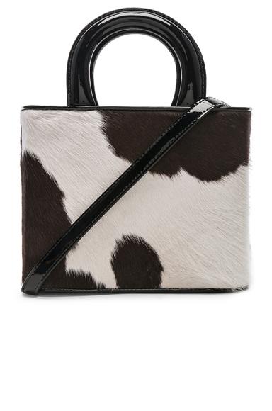 Staud Nic Bag in Animal Print,Black,Brown.