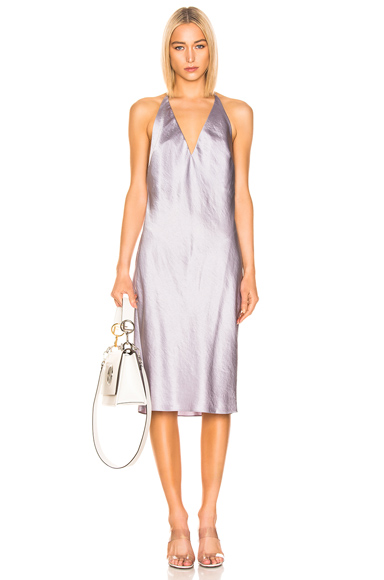 T by Alexander Wang V Neck Dress in Purple. - size S (also in L,M)