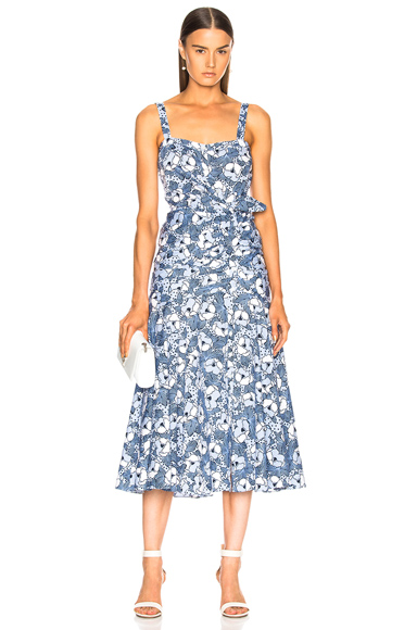 Veronica Beard Marena Dress in Blue,Stripes,Floral. - size 8 (also in )