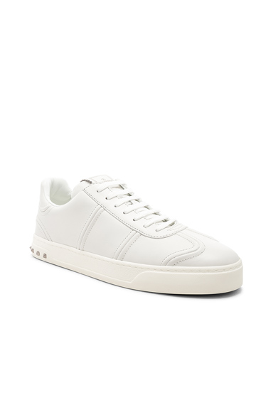 Valentino Leather Sneakers in White. - size 43 (also in 40,41,42,44,45)