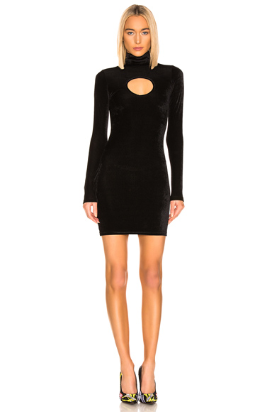 VETEMENTS Cut Out Body Dress in Black. - size M (also in L,S,XS)
