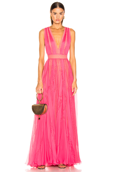 Zuhair Murad Marilyn Lace Dress in Pink. - size 40 (also in )