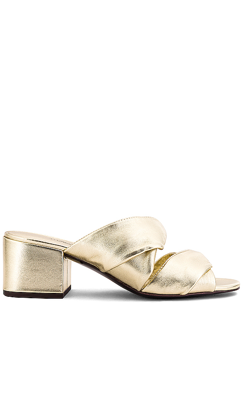3.1 phillip lim Cube Mule in Metallic Gold. - size 38 (also in 36,37,37.5,38.5)