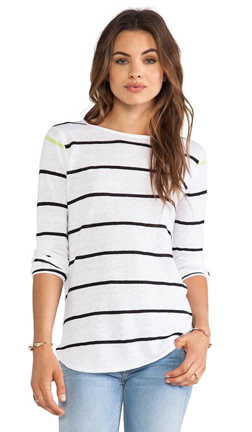 360 Sweater Shy Striped Sweater in Black