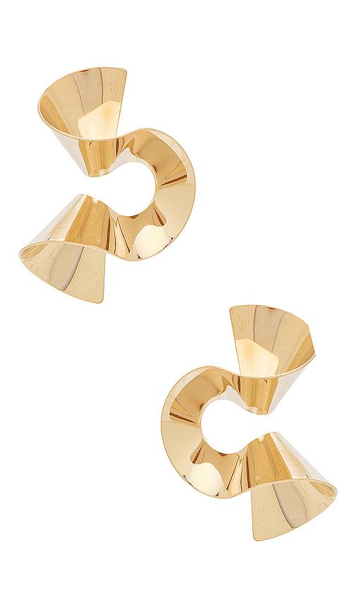 8 Other Reasons Joppie Earring in Metallic Gold.