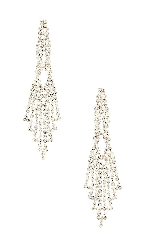 8 Other Reasons Chandelier Earring in Metallic Silver.
