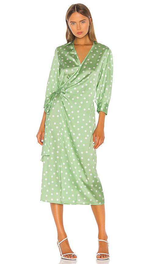Aeryne Cowry Dot Dress in Green. - size S (also in XS,M,L)