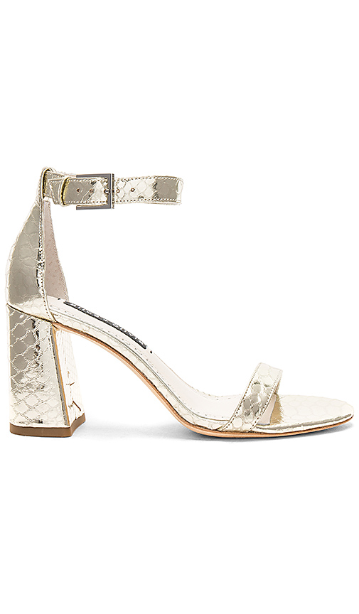 Alice + Olivia Lillian Sandal in Metallic Gold. - size 6 (also in 6.5,7.5,8)