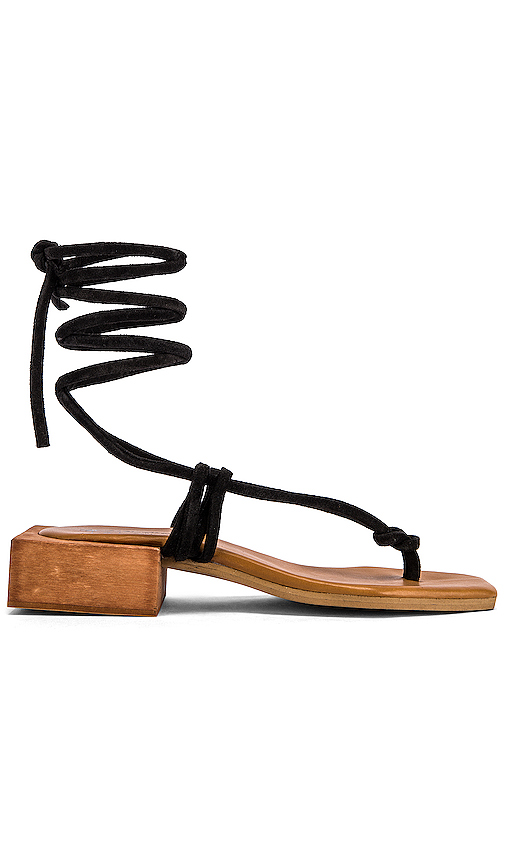 ALOHAS Palm Sandal in Black. - size 39 (also in 36,35,37,38,40)