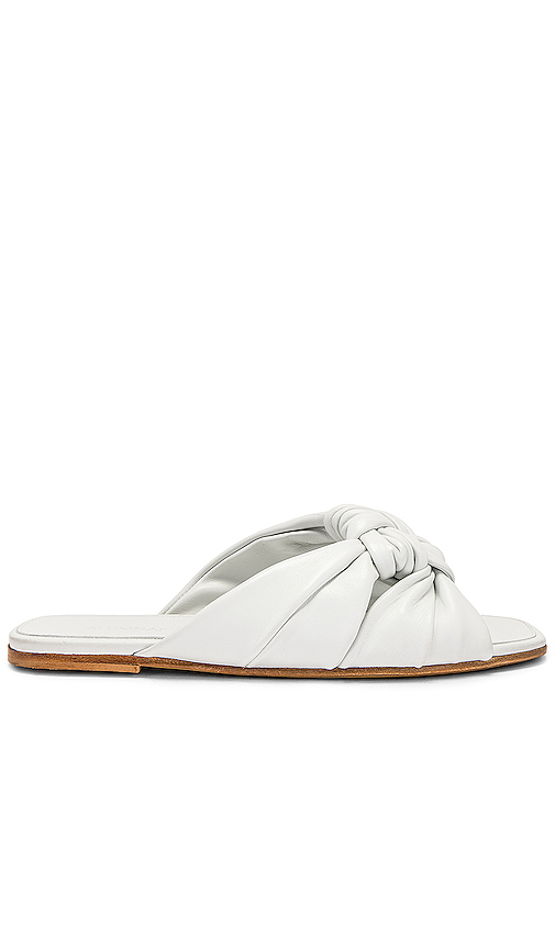 ALUMNAE Windsor Knot Slide Sandal in White. - size 36 (also in 36.5,37,38)