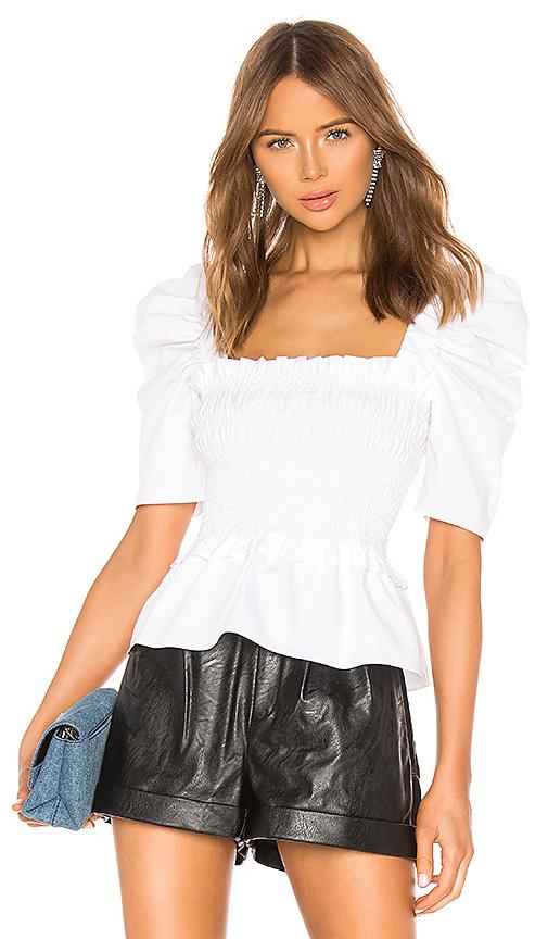 Amanda Uprichard Marisol Top in White. - size XS (also in L)