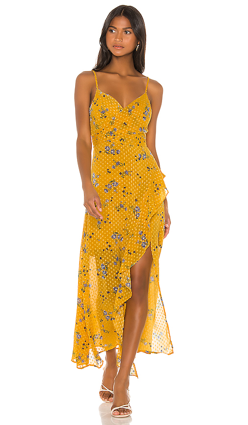 ASTR the Label Bette Dress in Yellow. - size XS (also in S,M,L)