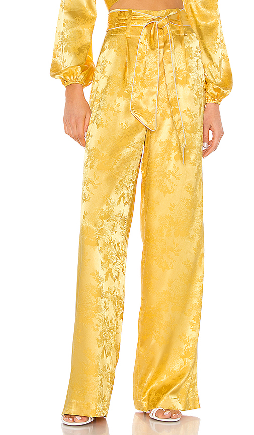 Camila Coelho Priscila Pant in Yellow. - size L (also in S,XS,M,XL)