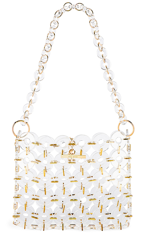 Cult Gaia Acrylic Jasmine Bag in White.