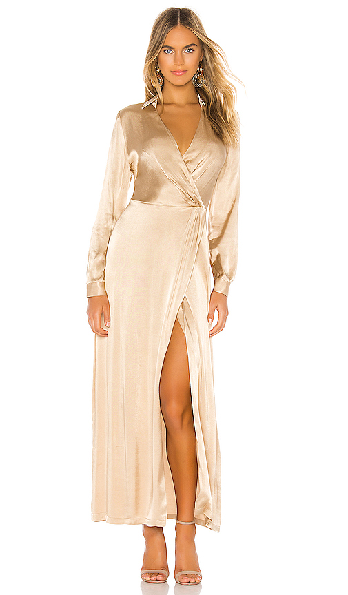 Donna Mizani Jacks Gown in Tan. - size XS (also in S,M)