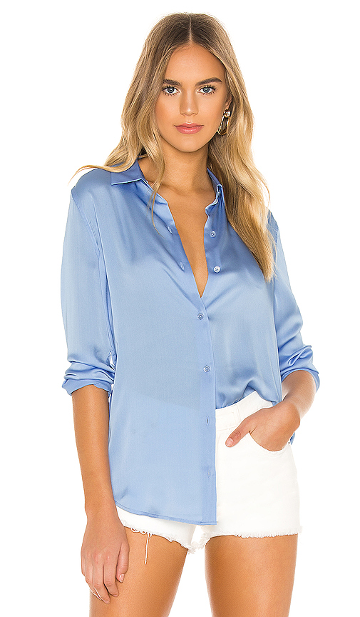 Equipment Essential Blouse in Baby Blue. - size L (also in XS,S,M)