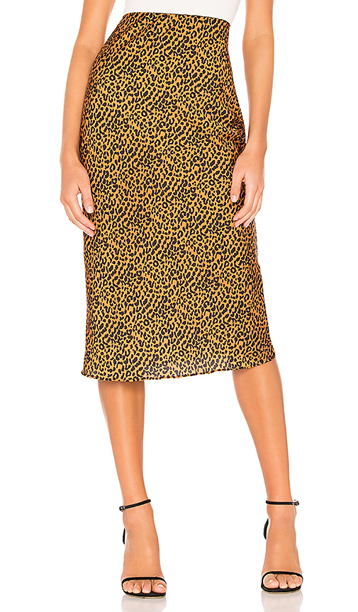 The East Order Sahara Midi Skirt in Brown. - size XS (also in S,M)