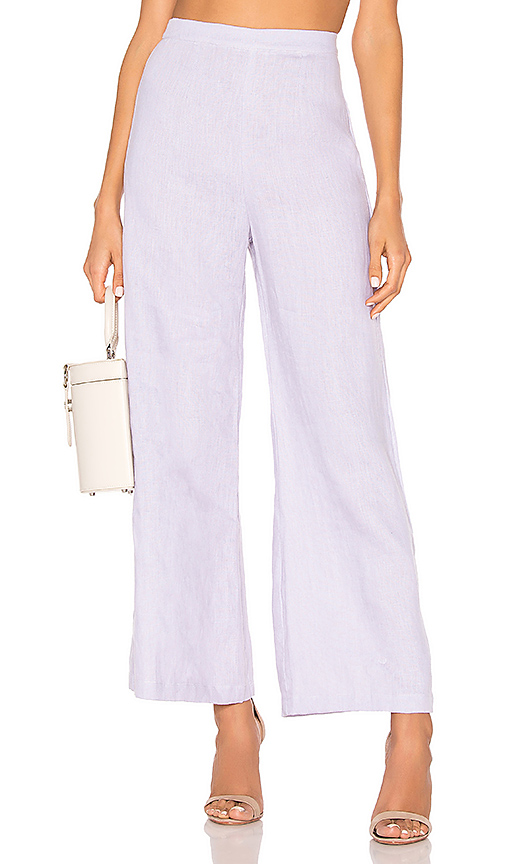FAITHFULL THE BRAND Scelsi Pants in Lavender. - size S (also in L,M,XS)