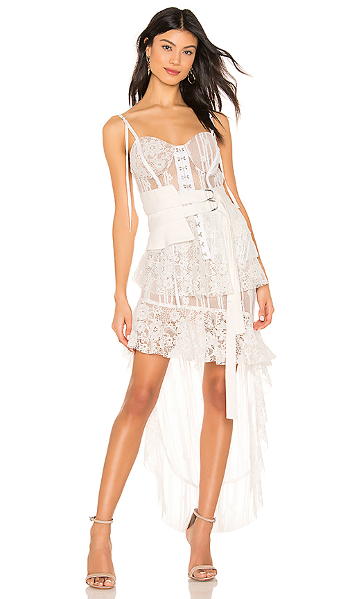 For Love & Lemons Claudette Maxi Dress in White. - size L (also in M,S,XS)