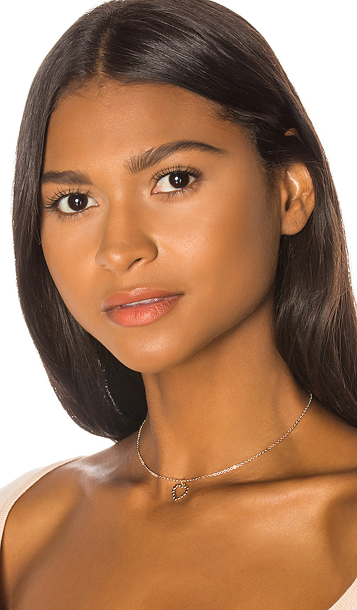 Frasier Sterling Summer Nights Heart Choker in Metallic Gold.