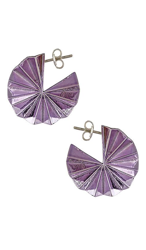Gaviria Lantern Earrings in Purple.