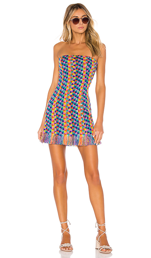 House of Harlow 1960 X REVOLVE Amelia Dress in Blue. - size S (also in XXS,XS,M,L,XL)