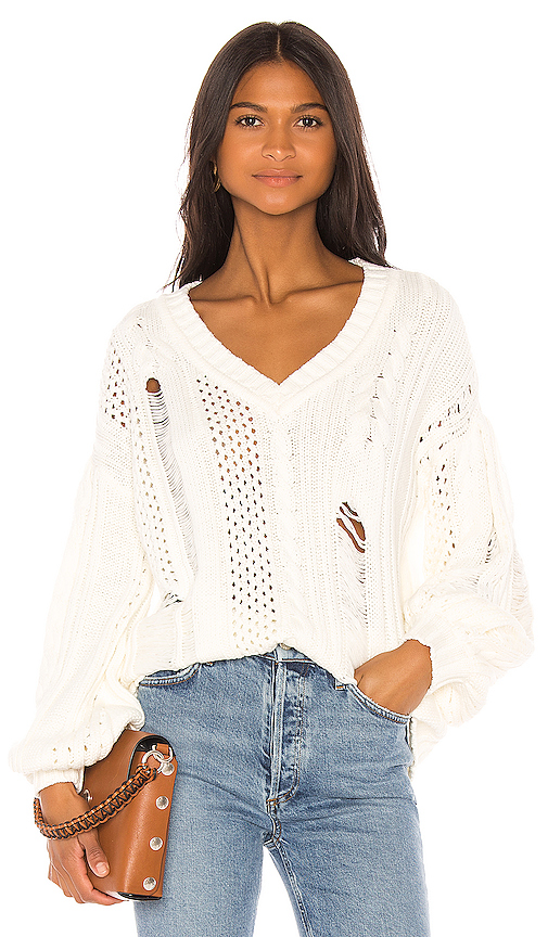 House of Harlow 1960 X REVOLVE Marcella Sweater in White. - size M (also in XS,S,L)