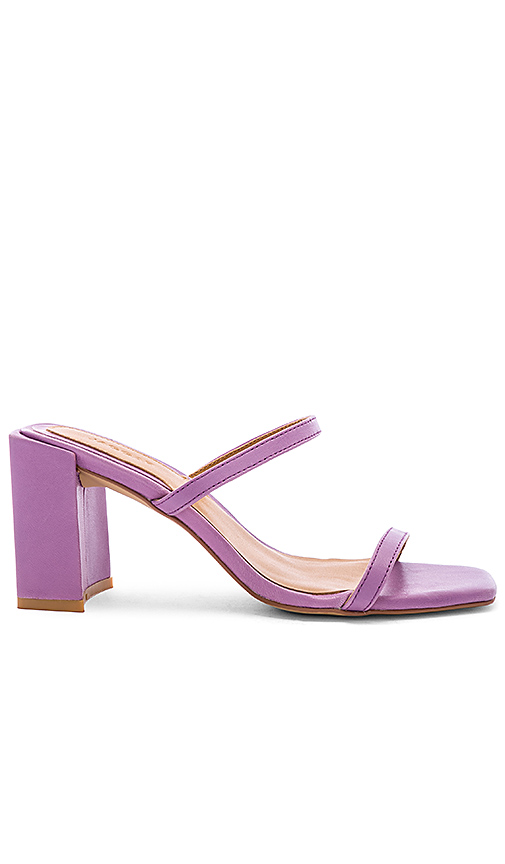 JAGGAR Square Heel in Purple. - size 38 (also in 37,36,39,40)