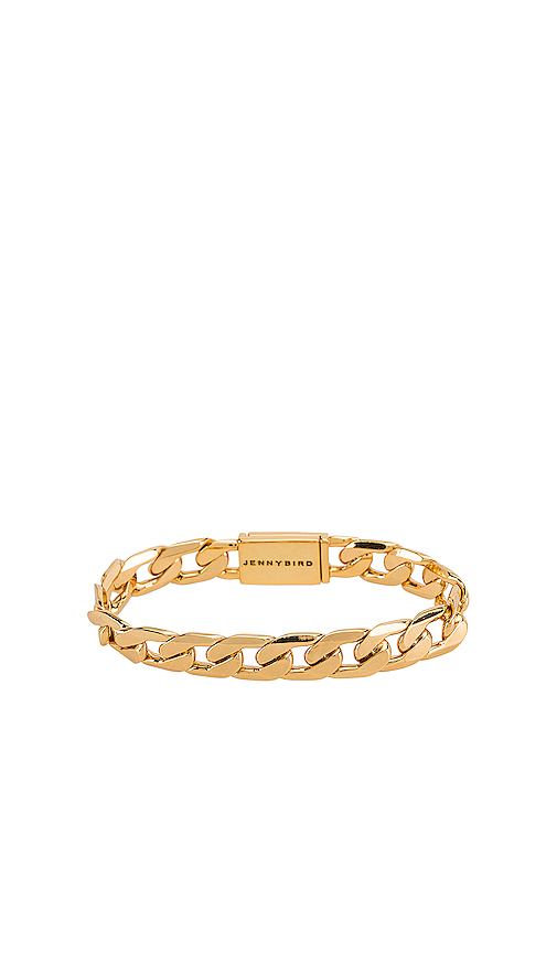 Jenny Bird Walter Bracelet in Metallic Gold.