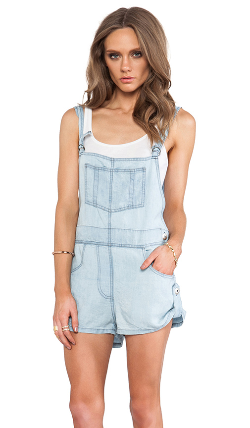 Jen's Pirate Booty Oleander Cut Off Overalls