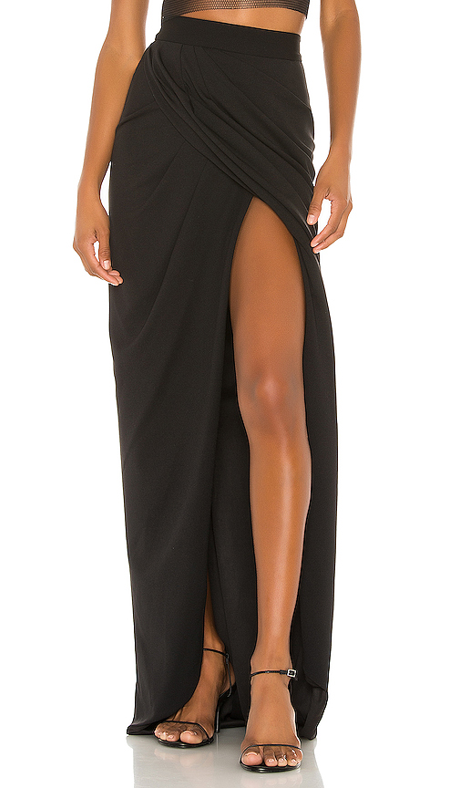 Katie May Always Flexin Wrap Skirt in Black. - size S (also in XS,M,L)