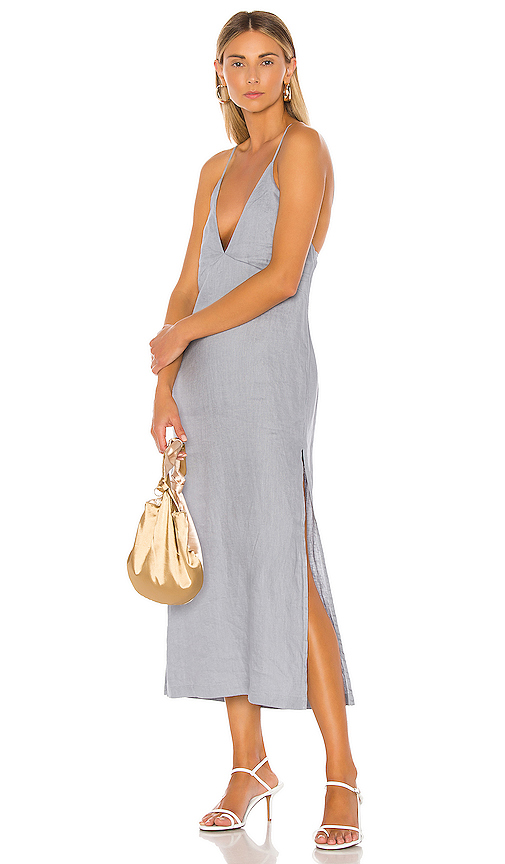 L'Academie The Luce Midi Dress in Blue. - size XXS (also in XS,S,M,L,XL)