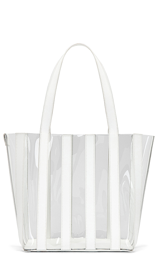 Loeffler Randall Marlena Pieced Tote in White.