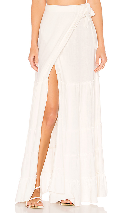 Lovers + Friends Fly Free Skirt in White. - size L (also in XL)