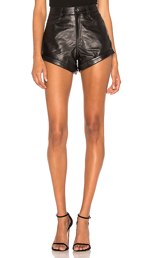LPA Leather Relaxed Cuff Short in Black. - size XL (also in L,M)