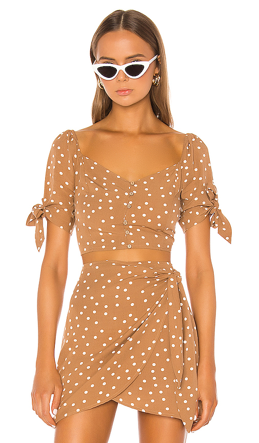 L*SPACE Lola Top in Brown. - size XS (also in S,M,L)